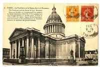 CPA 75 Paris Le Panthéon et la Statue de J.J Rousseau