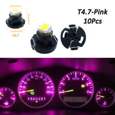 10x T4.7/T5 Neo Wedge LED Bulb Dash Climate Instrument Base Light Lamp Pink