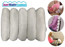 Just Right Cushion Cervical Neck Roll Adjustable Lumbar Back Support Pillow Wht