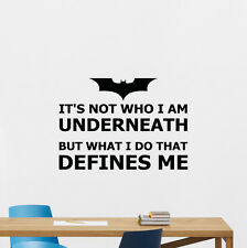 Batman Quote Wall Decal Superhero Vinyl Sticker Decor Poster Mural Art 205crt