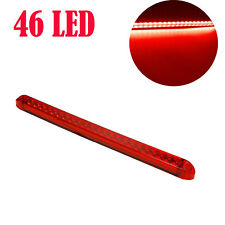 "17""Red 46LED Light Bar Stop Turn Tail 3rd brake Light Truck Traile Submersible"