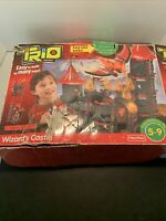 FISHER PRICE TRIO WIZARD'S CASTLE HAS WINGED LION AND 3 FIGURES INC0MPLETE