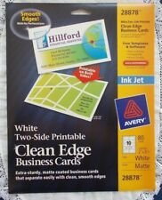 Avery Ink Jet 80 Count 3 12 X 2 White Clean Edge Business Cards 28878 Matte