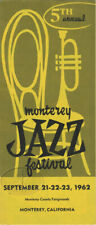 Monterey Jazz Festival 1962 Brochure LOUIS ARMSTRONG
