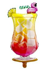 """Cocktail glass with flamingo 31"""" 78cm foil balloon tequila sunrise"""