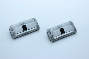 Genuine BMW E46 98-05 Sedan Coupe License plate light lense Set of 2 PCS NEW