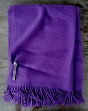 Alicia Adams 100% Baby Alpaca Throw - Bright Purple - Ret. $450 - New
