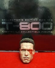 1/6 Hot Toys The Terminator T-800 MMS136  Damaged Head Sculpt  *US Seller*
