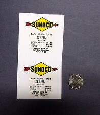 2 Lionel Sunoco Arrows W/ Letters For Tank Car Waterslide Decals NO GAS AND OILS