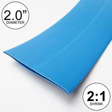 "2"" ID Blue Heat Shrink Tube 2:1 ratio 2.0"" wrap (2x24""= 4 feet) inch/ft/to 50mm"