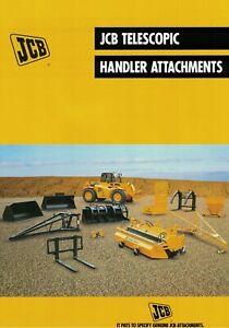 JCB Telescopic Handler Attachments Brochure / Leaflet 1999 9828F
