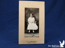 C.J. Dosworth Antique Portrait Kasson Minn Young Girl Dance Shoes Wicker Chair