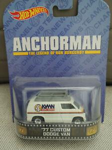 Hot Wheels Anchorman Die-cast  '77 Custom Dodge VAN NIP 2013