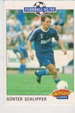 Panini Fussball 92-93 Action Cards #199 Gunther Schlipper FC Schalke 04