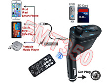 In-Vehicle Car Audio FM Transmitter W/IR Remote + USB SD Card Input For MP3 iPod