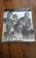 Kat-tun lips jpop CD album jewel case Japan koki jin akanishi kamenashi