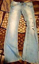 Premier Jeans Size 3 4 Slim Bootcut Light Blue Embellished Pockets