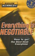 Everything Is Negotiable,Gavin Kennedy- 9780099243823