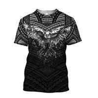 Eagle Tatoo 3D All Over Printed Shirts For Men Lover T Shirt 3D Size S-5XL