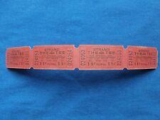 Vintage 11 Cent Strand Theatre Tickets (Strip of 4) Drive In Movie/Cinema