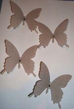 4  Schmetterlinge mit Clip - Deko - Ostern