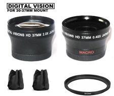 Wide Angle & Telephoto Lens for Sony HDR-PJ50V PJ30V CX150 CX300 CX350V XR200V