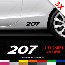 208 3008 308 RCZ 207 407 307 #2 PEUGEOT MOTOR SPORTS DECAL STICKER.2008