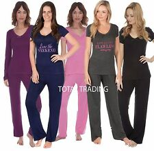 Womens Short Long Sleeve Pyjamas Size UK 8 - 22 Ladies Summer Pj Set Nightwear