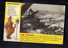 Mint WW2 England Anti Nazi Propaganda Postcard Bombing of Germany by RAF
