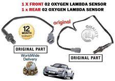 FOR TOYOTA MR2 1.8 VVTi 2000-2007 1x FRONT + 1x REAR O2 OXYGEN LAMBDA SENSOR SET