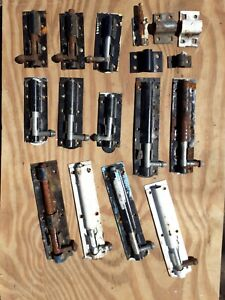 """Vintage Brass & Steel Security Safety sliding Bolt 4"""" 3"""" 2"""" Sold Singular (1)"""