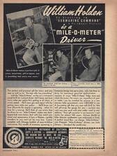 """1951 Mile-O-Meter Ad/ William Holden/ """"Submarine Command"""""""