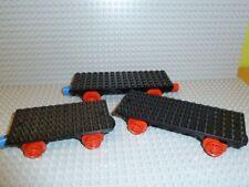 LEGO® 3x Eisenbahn 4,5V Grund-Waggon 6x12 6 x 16 736c02 725 182 726 137 F749