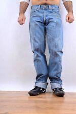 LEVIS VINTAGE Engineered JEANS DENIM FADED Embroidered LOOSE Twisted W32 L34 FAB