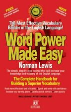 Word Power Made Easy by Lewis  New 9788183071000 Fast Free Shipping..