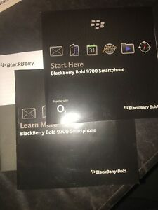 Blackberry Bold 9700 Instruction Manuals