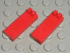 2 x LEGO Red Hinge Tile 4531 / Set 7817 5563 10024 6989 5590 5581 6528 7824 7191