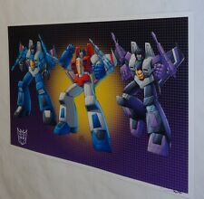 G1 Transformers Decepticon Starscream Skywarp Thundercracker Poster 11x17 Pic