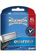 Wilkinson Sword Quattro Rasierklingen 6 Stück  Ersatzklingen XL Pack Original )