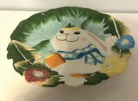"""Bunny Platter Colorful And Ready To Use 13"""" Wide"""