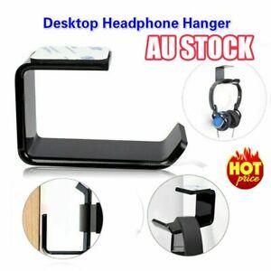 Headphone Stand Hanger Holder Dual Headset Tape Under Desk Hook Clever Mount HG