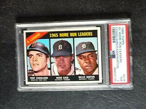 1966 Topps AL Home Run Leaders #218 Conigliaro/Cash/Horton PSA 5 EX
