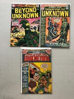 Lot of 3 From Beyond the Unknown (1969) #1(VF) 8 19 FN-VF Very Fine