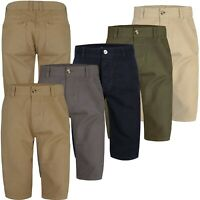 Mens Ex Store Casual Knee Length Long 3/4 Chino Summer Shorts Bottom Cotton Pant
