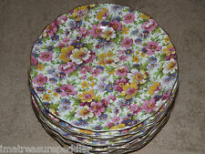 "James Kent England DuBarry Longton Floral Chintz 12 Bread Plates 6 1/2"""