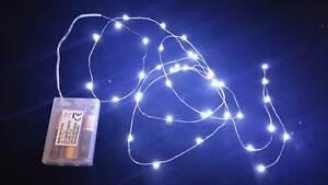 100 Microled Lineal Luces Blanco Frío a Batería Luces de Navidad Adornos Toma