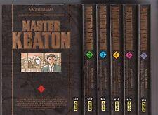 MASTER KEATON DELUXE tomes 1 à 6 Naoki Urasawa manga seinen SERIE en français