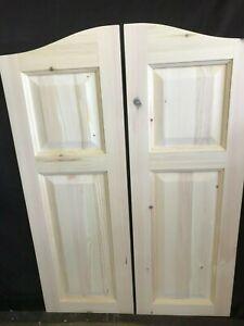 saloon western style swing doors raised panel wild west bar UK Listing T4