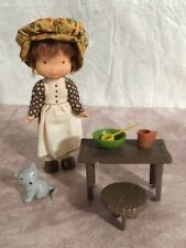 Vintage 1975 Holly Hobbie Doll Play Set Carrie Knickerbocker 6� doll