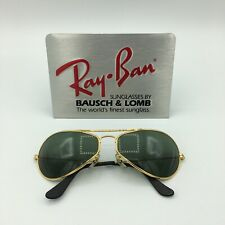 Ray-Ban USA Vintage NOS B&L Aviator Air-Boss 24k GP W2615 Pilot Sunglasses